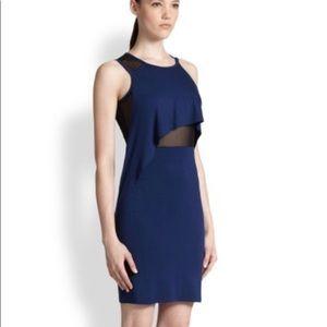 McQ by Alexander McQueen Sapphire Draped Dress XXL